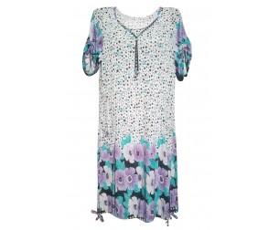 Платье М110 молочный с принтом