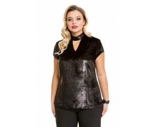 Блузка 1101 черная Novita