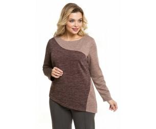 Пуловер 1076 коричневый Novita
