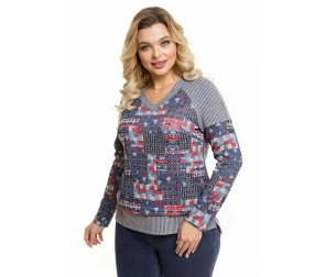 Пуловер 1088 цветная абстракция Novita