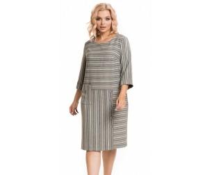 Платье 927 цветная полоска Novita