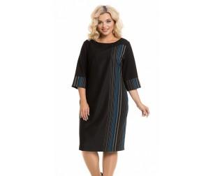 Платье 936-1 синяя полоска Novita