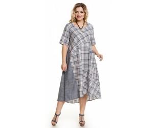 Платье 1011 серая клетка Novita