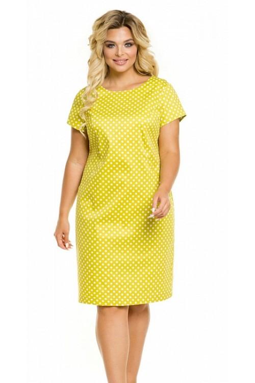 Платье 1024 горох на лимонном Novita
