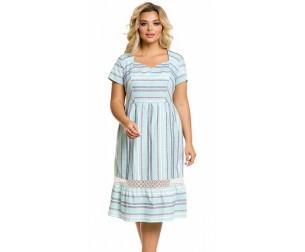 Платье 1033 цветная полоска Novita