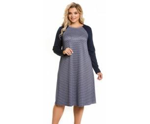 Платье 1068 темно-синее Novita