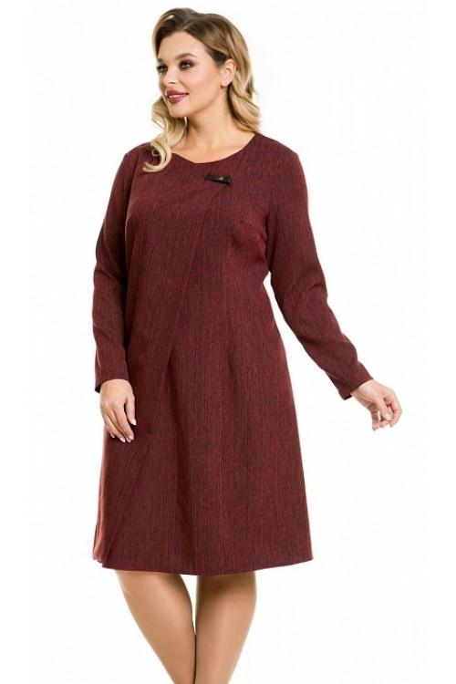 Платье 1077 красный меланж Novita