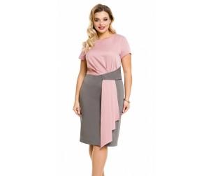 Платье 1096 серо-розовое Novita