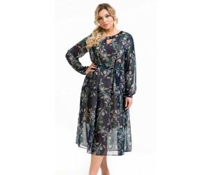 Платье 1134 темно-синее Novita
