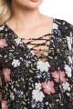 Платье 1142 цветы на черном Novita