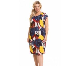 Платье 1151 цветная абстракция Novita