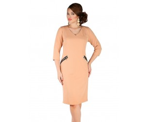 Платье 392 песочного цвета Novita