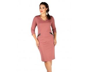 Платье 392 кирпичного цвета Novita