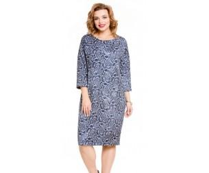 Платье 498-1 синие розы Novita