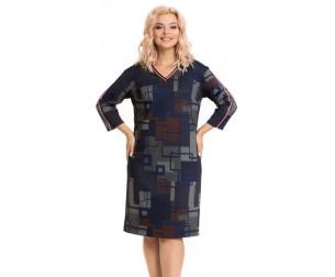Платье 820 цветная абстракция Novita