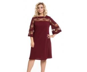 Платье 851 темно-бордовое Novita