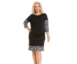 Платье 855 черное Novita