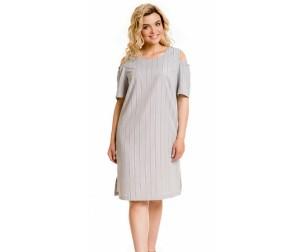 Платье 876-1 черно-белое Novita