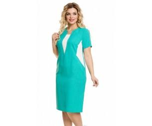 Платье 884 бирюзовое Novita