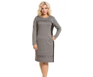 Платье 939 серо-черное Novita