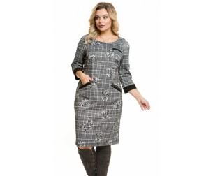 Платье 949 серо-черное Novita