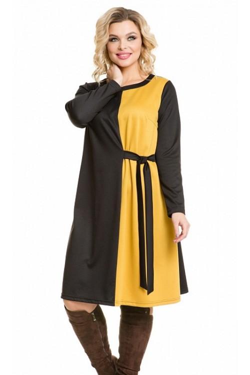 Платье 950 черно-желтое Novita
