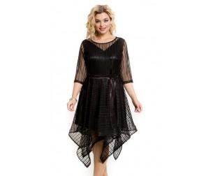 Платье 955 черная полоска Novita