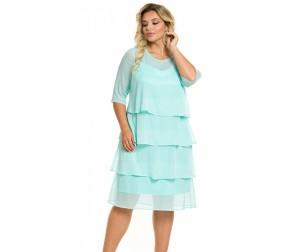 Платье 960 мятно-голубое Novita