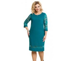 Платье 966 бирюзовое Novita