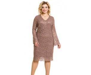 Платье 969 кофейного цвета Novita