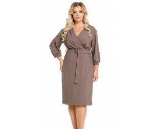 Платье 971 серо-коричневое Novita