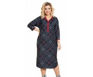 Платье 975 серая клетка Novita