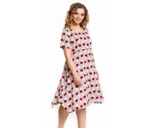 Платье 883 красные круги Novita