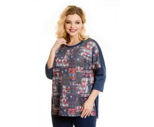 Пуловер 725-1 красно-синий Novita