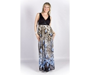 Платье 187-1 голубые цветы Novita