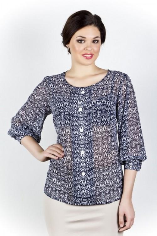 Блузка 200 темно-синяя Novita