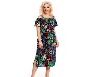 Платье 756 цветные листья Novita