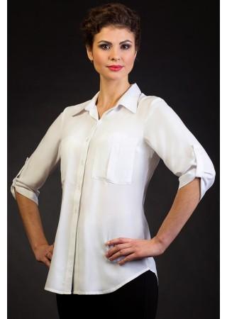 Удлиненная белая блузка Fabrika…