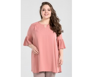 Блузка 1014 пудровая Luxury Plus