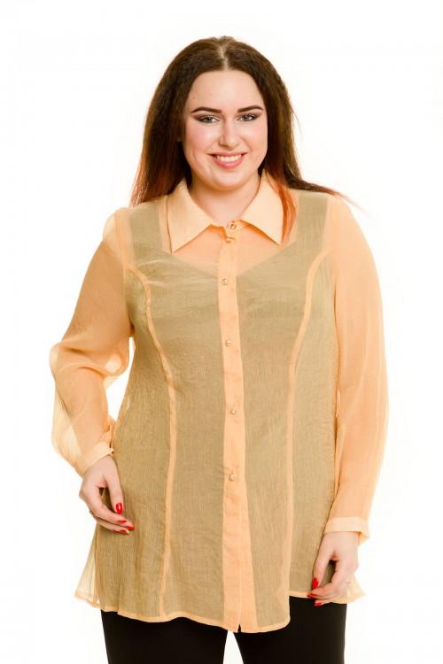 Рубашка 660 бежевая Luxury Plus