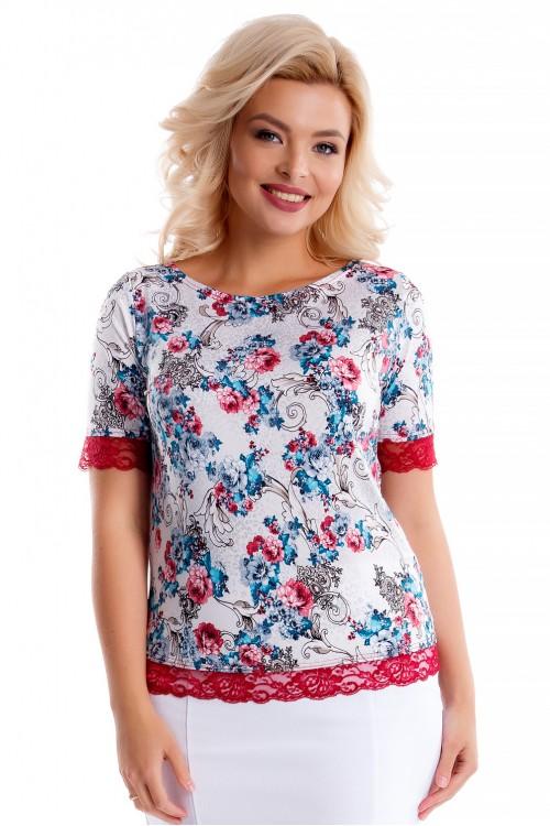 Блузка летняя с кружевом Liza-fashion