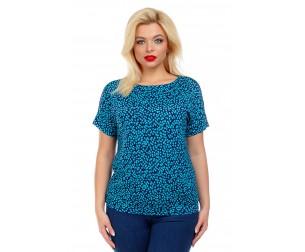 Блузка летняя с мелким принтом Liza-fashion
