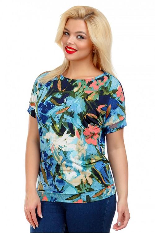 Блузка с растительным принтом Liza-fashion