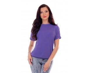 Блузка фиолетовая однотонная Liza-fashion