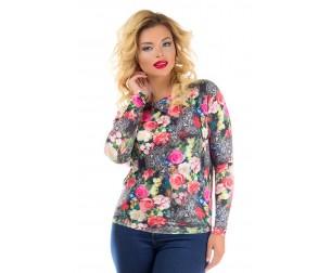Блузка с цветочным принтом Liza-fashion