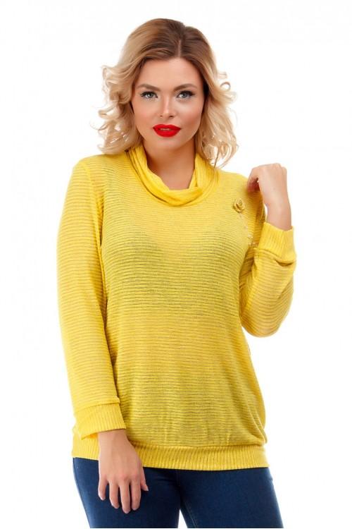 Блузка желтая с люрексом Liza-fashion