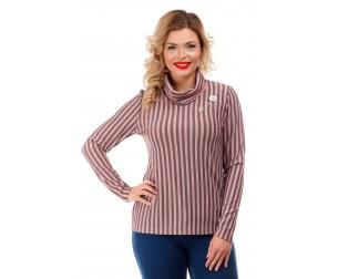 Блузка в вертикальную полоску Liza-fashion