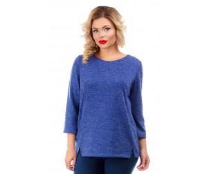 Блузка трикотажная синяя Liza-fashion