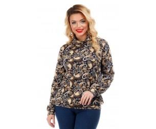 Блузка с принтом огурцы Liza-fashion