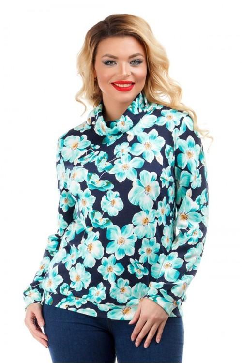 Блузка с ярким цветочным принтом Liza-fashion